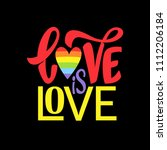gay lettering. conceptual... | Shutterstock .eps vector #1112206184