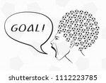 football ball haircut woman... | Shutterstock .eps vector #1112223785