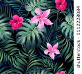 tropical seamless pattern with... | Shutterstock .eps vector #1112228084