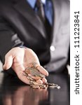 an executive holds an... | Shutterstock . vector #111223841