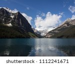 blue waters of lake louise in... | Shutterstock . vector #1112241671