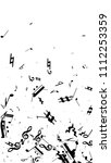 black musical notes on white...   Shutterstock .eps vector #1112253359