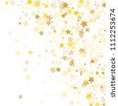 random falling golden stars on ... | Shutterstock .eps vector #1112253674