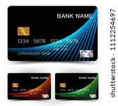 credit card set . with... | Shutterstock .eps vector #1112254697