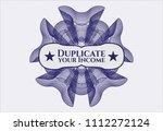 blue passport money style...   Shutterstock .eps vector #1112272124