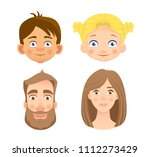 emotions of human face. set of... | Shutterstock .eps vector #1112273429