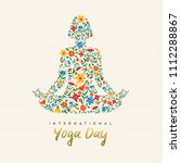 international yoga day design... | Shutterstock .eps vector #1112288867