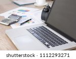 business working table with... | Shutterstock . vector #1112293271