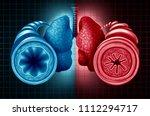 asthma health diagnosis as a... | Shutterstock . vector #1112294717