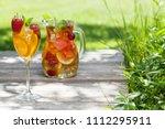 homemade lemonade or sangria...   Shutterstock . vector #1112295911