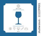 wineglass icon symbol | Shutterstock .eps vector #1112299001