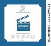clapperboard icon symbol | Shutterstock .eps vector #1112299391