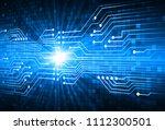 binary circuit board future...   Shutterstock .eps vector #1112300501