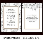 vintage delicate invitation... | Shutterstock .eps vector #1112303171