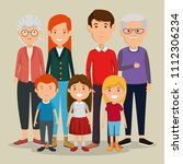 group of family members avatars ... | Shutterstock .eps vector #1112306234