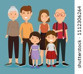 group of family members avatars ... | Shutterstock .eps vector #1112306264