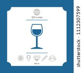 wineglass symbol icon | Shutterstock .eps vector #1112307599