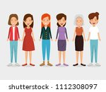 group of women friends... | Shutterstock .eps vector #1112308097