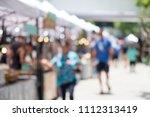 blurred image of people walking ... | Shutterstock . vector #1112313419