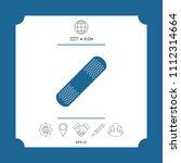 medical  plaster  adhesive... | Shutterstock .eps vector #1112314664