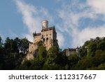 lichtenstein caste in bavaria ... | Shutterstock . vector #1112317667