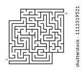 abstract square maze with... | Shutterstock .eps vector #1112319521