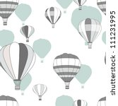 Seamless vector pattern with bright balloons