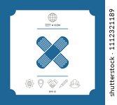 cross adhesive bandage  medical ... | Shutterstock .eps vector #1112321189
