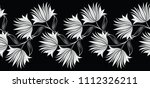 seamless black and white flower ... | Shutterstock .eps vector #1112326211