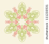 ornamental round floral... | Shutterstock .eps vector #111233531