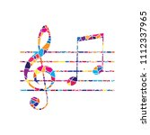 music violin clef sign. g clef... | Shutterstock .eps vector #1112337965