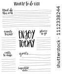 hand drawn weekly list... | Shutterstock .eps vector #1112338244