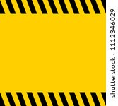 black and yellow warning line... | Shutterstock .eps vector #1112346029
