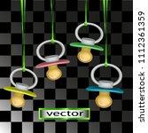 vector illustration pacifiers... | Shutterstock .eps vector #1112361359