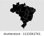 brazil map   high detailed... | Shutterstock .eps vector #1112361761