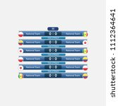 match schedule group h vector... | Shutterstock .eps vector #1112364641