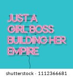 just a girl boss building her... | Shutterstock .eps vector #1112366681