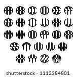 set of letters to create circle ... | Shutterstock .eps vector #1112384801
