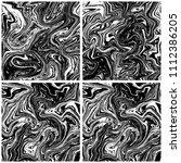 marble texture backgrounds set. ... | Shutterstock .eps vector #1112386205