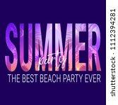 summer party illustration.... | Shutterstock .eps vector #1112394281
