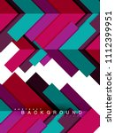 multicolored abstract geometric ... | Shutterstock .eps vector #1112399951