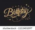 happy birthday greeting card... | Shutterstock .eps vector #1112401097