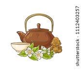 jasmine tea vector illustration | Shutterstock .eps vector #1112403257