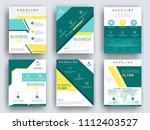 business brochure flyer design... | Shutterstock .eps vector #1112403527