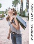 women are shopping in the summer | Shutterstock . vector #1112403599