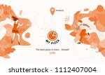 colorful design of pizza banner ...   Shutterstock .eps vector #1112407004