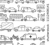vector hand drawn seamless... | Shutterstock .eps vector #1112408141