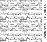 vector hand drawn seamless... | Shutterstock .eps vector #1112408147