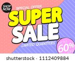 super sale  up to 60  off ...   Shutterstock .eps vector #1112409884