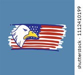 eagle and american flag red... | Shutterstock .eps vector #1112410199
